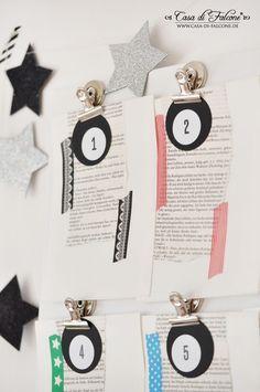 Adventskalender No18 I Buchseiten & Masking Tapes I Casa di Falcone