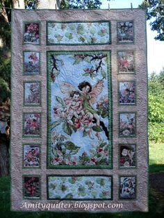 Michael Miller Fairy Frost panel quilt