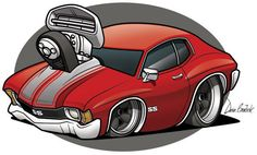 72 chevelle ss rendering cartoon #BecauseSS