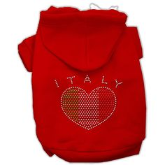 Mirage Pet Italian Rhinestone Dog Hoodie * Click image for more details. (This is an affiliate link and I receive a commission for the sales)