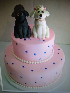 Astonishing 41 Best Poodle Cakes Images Poodle Cupcake Cakes Pink Poodle Funny Birthday Cards Online Aeocydamsfinfo