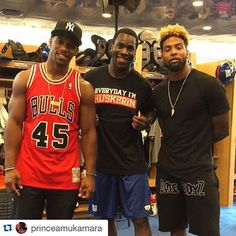 @princeamukamara.                          Back to camp with the boys!! @iam_objxiii @teamvic