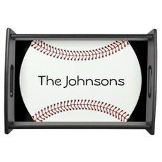 Baseball Design Serving Tray