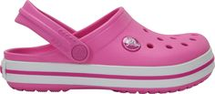 Clogs Pink Crocband™ - Gifts for the Home Pink Shoes, Girls Shoes, Crocs Crocband, Athletic Looks, Crocs Classic, Racing Stripes, Kids Sandals, Childrens Shoes, 4 Kids