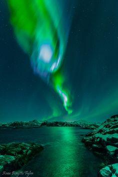 Auroras Anne Birgitte Fyhn on January 22, 2015 @ Hillesøya, Norway