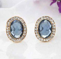 Aaishwarya Glamorous Blue Crystal Studs #crystalstuds #studearrings #earrings #earringsforwomen #crystalearrings #bluecrystalearrings