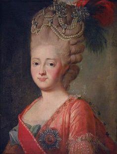 Portrait de Maria Feodorovna, née Sophie Dorothea de Württemberg, après Alexander Roslin