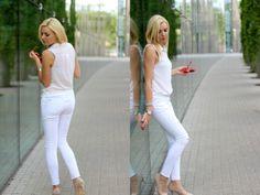 www.mmday.pl white look Białystok White Pants, Capri Pants, Jeans, Outfits, Fashion, White Romper Pants, Moda, Capri Trousers, Suits