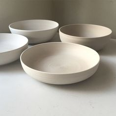 Various white ceramic bowls.
