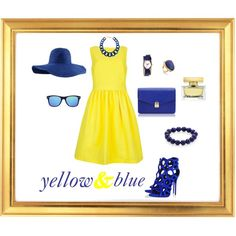 """yellow&blue"" by lenkafen on Polyvore"