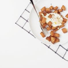 """After eating out WAY too much over the past two weeks, it was nice to wake up this morning and enjoy a simple sweet potato hash. With an egg on top, too.  Happy Saturday!"" Photo taken by @imbreannarose on Instagram, pinned via the InstaPin iOS App! http://www.instapinapp.com (01/24/2015)"