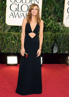 Best boob window dresses of the golden globes. Who's your vote? #fashion #KristinWiig