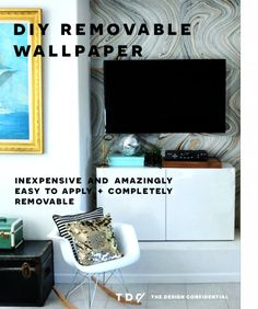 DIY Home Decor: How To Make Your Own Removable Wallpaper | The Design Confidential