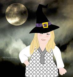 Ilustrações Catita Design: Vamos colocar chapéu de bruxa na sua Mascotinha?