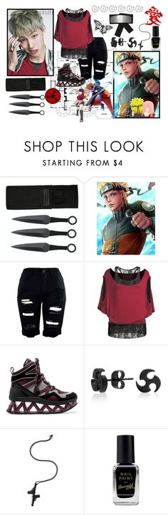 """""""jb""""naruto"""""""" by prke ❤ liked on Polyvore featuring Marc by Marc Jacobs, Bling Jewelry, Lynn Ban, Barry M and botigot7s"""
