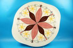 50er-Jahre-Gruenstadt-Keramik-Kuchenplatte-Tortenplatte-E832