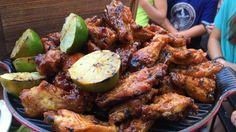 Juicy grilled chicken wings are even better with Cleveland BBQ sauce