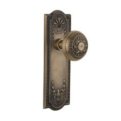 Nostalgic Warehouse Egg & Dart Double Dummy Door Knob with Meadows Plate Finish: Unlacquered Brass