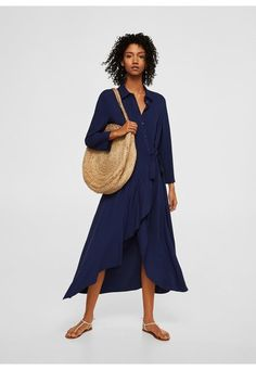 Discover the latest trends in Mango fashion, footwear and accessories. Shop the best outfits for this season at our online store. Mango Fashion, Everyday Fashion, Fashion Online, Evening Dresses, Latest Trends, Midi Skirt, Shirt Dress, Skirts, Ruffles