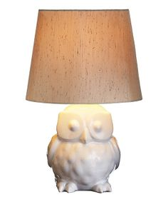 Ceramic Owl Lamp - love!