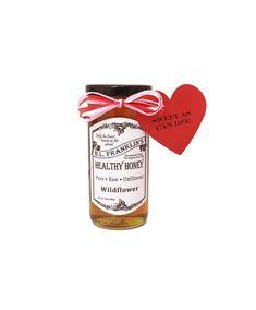 H.L. Franklin's Healthy Honey Valentine's Gift Jar - 12 oz Wildflower Honey