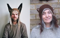 """""""Barbara Keal hand makes felted hats and costumes inspired by animals both real and imaginary..."""""""