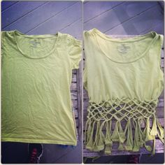 DIY crop top by Lauren Cronon. Just a little craft project on my day off.