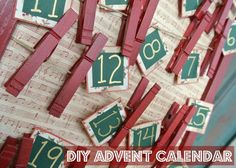 Everyone loves a DIY Advent Calendar. I use these for each holiday. My kids love the count down surprise. I like them for a Christmas, Thanksgiving, Halloween, or any big event! These are a great Christmas project and a good holiday craft idea!