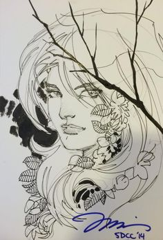 Poison Ivy by Jim Lee hidden sketches