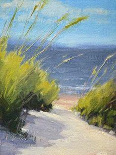 Beach Breezes - Georgia Coast, beach painting by artist Laurel Daniel Paintings I Love, Seascape Paintings, Landscape Paintings, Watercolor Paintings, Beach Paintings, Indian Paintings, Oil Paintings, Painting Art, Watercolor Artists