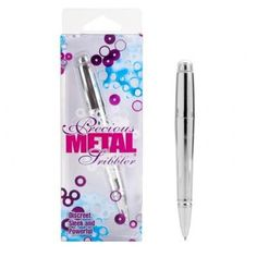 Precious Metal Scribbler Silver, It writes and vibrates.