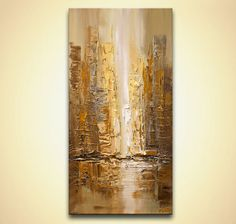 This is a MADE-TO-ORDER painting. Time frame to create it is 5 business days.   Title On the Streets   Size: 24x36x1.5  Medium: Professional acrylic colors on canvas. I will ship your painting STRETCHED. Sides painted will be painted as a continuation of the painting, Colors I will use the following colors: Dark brown, gold , gray, light yellow, cream, white  A signed Certificate of Authenticity will be provided with the painting.  Will be new and in excellent condition. Directly from my…