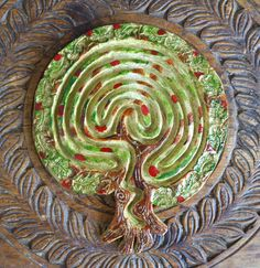 Summer Harvest Tree of Life Finger Labyrinth by MandalaJourneyAmy, $60.00