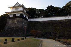 Kushima Castle in Nagasaki, a great place to see cherry blossoms in the Spring