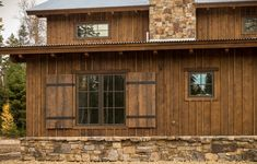 Rustic Board & Batten Siding | ... Timber Products siding is used to create a custom sliding barn door