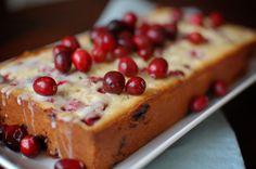 Lemon Cake with Cranberries