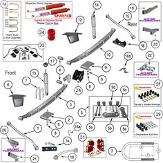 Interactive Diagram - Jeep Wrangler YJ Full Doors | Jeep YJ Parts ...