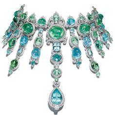 Giampiero Bodino African Paraiba tourmaline and diamond necklace -