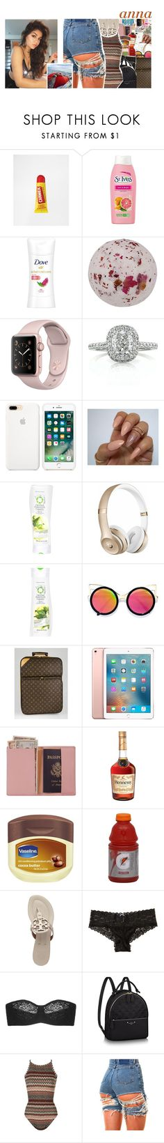 """""""love on the brain"""" by m-elaningoddess ❤ liked on Polyvore featuring St. Ives, Mark Broumand, Herbal Essences, Beats by Dr. Dre, LULUS, Louis Vuitton, Apple, Royce Leather, Vaseline and Gatorade"""