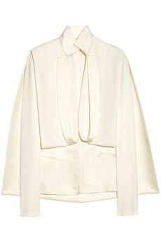 ESTEBAN CORTAZAR  Cape-back duchess satin and cady jacket