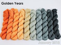 The highest quality hand-dyed, just for you. January 2018, Yarn Colors, Color Pallets, Gradient Color, Merino Wool Blanket, Color Combos, Fiber Art, Spinning, Therapy