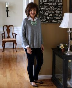 What I Wore-My Style - Cyndi Spivey What I Wore-My Style - Walking in Grace and Beauty Fashion Over Fifty, 50 Fashion, Fashion Outfits, Fashion Tips, Fashion Styles, Fashion Ideas, Mature Women Fashion, Fashion For Women Over 40, Style And Grace