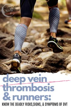 What is deep vein thrombosis, and why are endurance athletes, such as runners,  at risk?  Know the signs and symptoms of this potentially deadly condition, also known as DVT. Running Injuries, Running Workouts, Running Tips, Trail Running, Fun Workouts, Ultra Marathon Training, Marathon Tips, Running For Beginners, Workout Music