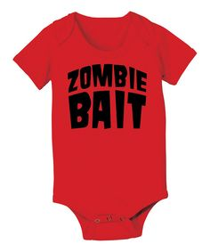 This KidTeeZ Red 'Zombie Bait' Bodysuit - Infant by KidTeeZ is perfect! #zulilyfinds