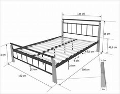 Welded Furniture, Industrial Design Furniture, Iron Furniture, Steel Furniture, Pallet Furniture, Furniture Design, Steel Bed Design, Wood Bed Design, Bed Frame Design
