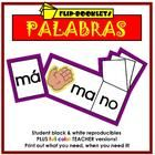 """$5.00 In Spanish! With these reproducible booklets, your students will be reading in a few short days! The children cut out the syllables that form the """"..."""