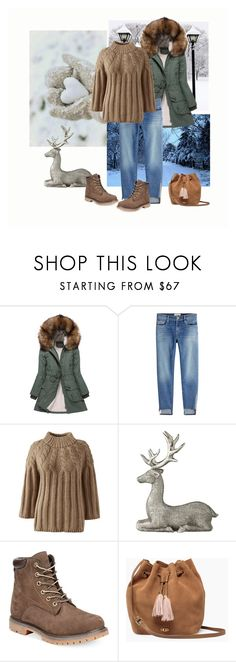 """""""Deer"""" by fivana ❤ liked on Polyvore featuring Just Female, Frame, Lands' End, Lene Bjerre, Timberland and UGG"""