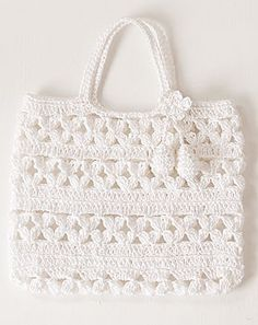 crochet white purse