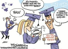 student political cartoons | ... Digging a Hole of Debt for College Students [2 Political Cartoons