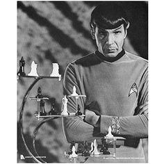 Leonard Nimoy 8 inch x 10 inch photo Star Trek Fringe Mission Impossible chess board